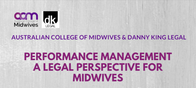 Performance Management Workshop: A legal perspective for midwives